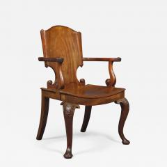 A Cuban Mahogany Armchair The Back In The Form Of A Paper Scroll - 1308761