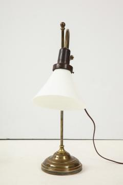 A Danish Brass and Milk Glass Articulated Table Lamp Circa 1930 - 1458288
