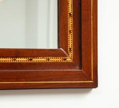 A Danish Fruitwood Inlaid Mahogany Mirror Circa 1910  - 759531