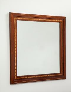 A Danish Fruitwood Inlaid Mahogany Mirror Circa 1910  - 759533