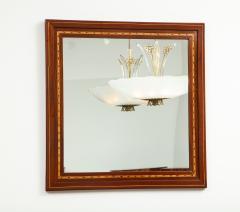 A Danish Fruitwood Inlaid Mahogany Mirror Circa 1910  - 759535