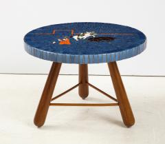 A Danish Tile top and Oak Side Table Circa 1940 1950 - 1996675