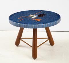 A Danish Tile top and Oak Side Table Circa 1940 1950 - 1996676