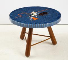 A Danish Tile top and Oak Side Table Circa 1940 1950 - 1996677