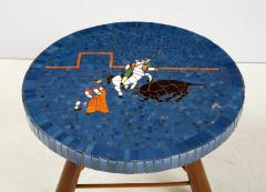 A Danish Tile top and Oak Side Table Circa 1940 1950 - 1996678