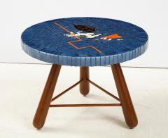 A Danish Tile top and Oak Side Table Circa 1940 1950 - 1996680