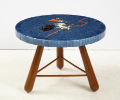 A Danish Tile top and Oak Side Table Circa 1940 1950 - 1996681