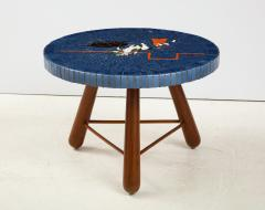 A Danish Tile top and Oak Side Table Circa 1940 1950 - 1996682