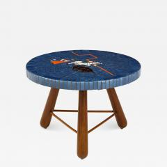 A Danish Tile top and Oak Side Table Circa 1940 1950 - 1997434