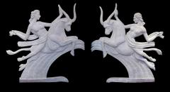 A Dramatic Pair of Art Deco Plaster Relief Panels - 199547