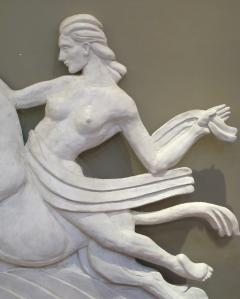 A Dramatic Pair of Art Deco Plaster Relief Panels - 199549