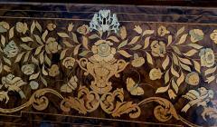 A Dutch Rococo Bombe Marquetry inlaid Dropfront Desk - 1448243