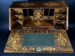 A Dutch Rococo Bombe Marquetry inlaid Dropfront Desk - 1448245