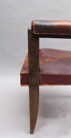 A FINE FRENCH ART DECO BEECH DESK CHAIR - 1030820