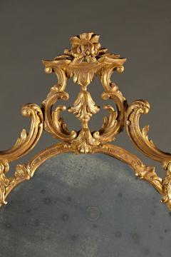 A Fine Chippendale Period Carved Giltwood Oval Mirror - 638108