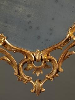 A Fine Chippendale Period Carved Giltwood Oval Mirror - 638112