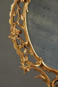 A Fine Chippendale Period Carved Giltwood Oval Mirror - 638113
