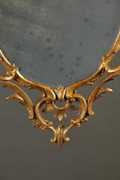 A Fine Chippendale Period Carved Giltwood Oval Mirror - 638116