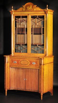 A Fine Edwardian Satinwood Secretaire Bookcase - 1023197