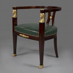 A Fine Empire Style Mahogany Desk Chair - 794683