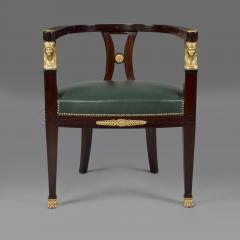 A Fine Empire Style Mahogany Desk Chair - 794684
