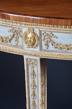 A Fine English Adam Period Demi Lune Console Table - 296699