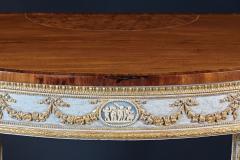 A Fine English Adam Period Demi Lune Console Table - 296700