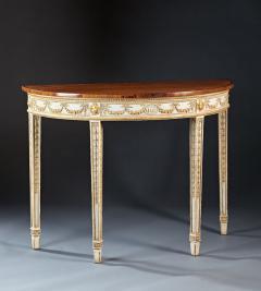 A Fine English Adam Period Demi Lune Console Table - 296701