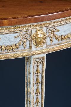 A Fine English Adam Period Demi Lune Console Table - 296703