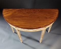 A Fine English Adam Period Demi Lune Console Table - 296704