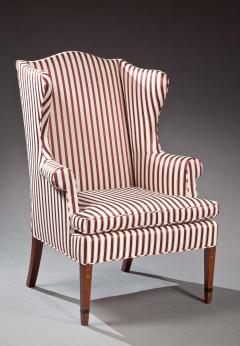A Fine Federal Bellflower Inlaid Wing Chair - 134678