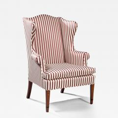 A Fine Federal Bellflower Inlaid Wing Chair - 135340