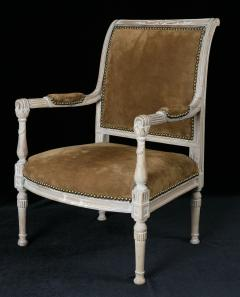 A Fine French Late Directoire Miniature Fauteuil with Leather Upholstery - 272327
