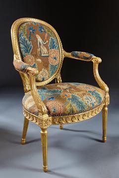 A Fine George III Adam Period Giltwood Fauteuil Armchair - 184610