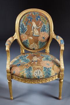 A Fine George III Adam Period Giltwood Fauteuil Armchair - 184611