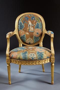 A Fine George III Adam Period Giltwood Fauteuil Armchair - 184612
