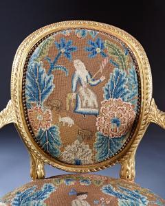 A Fine George III Adam Period Giltwood Fauteuil Armchair - 184613