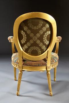A Fine George III Adam Period Giltwood Fauteuil Armchair - 184614