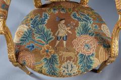 A Fine George III Adam Period Giltwood Fauteuil Armchair - 184615