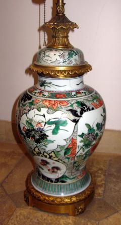 A Fine Large Famille Vert Jar with Crisply Cast Gilt Bronze Mounts - 304101