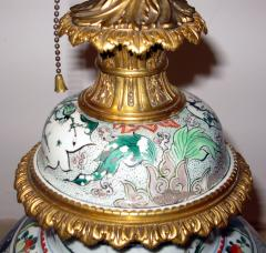 A Fine Large Famille Vert Jar with Crisply Cast Gilt Bronze Mounts - 304110
