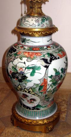 A Fine Large Famille Vert Jar with Crisply Cast Gilt Bronze Mounts - 304112