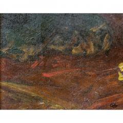 A Fine Orientalist Painting of a Beautiful Half Nude Odalisque Holding a Fan - 1434553