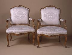 A Fine Pair of French Louis XV Period Fauteuils Stamped S Blanchard  - 63518
