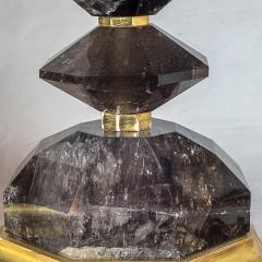 A Fine Pair of French Smoke Rock Crystal Table lamps - 1444440