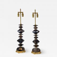 A Fine Pair of French Smoke Rock Crystal Table lamps - 1446375