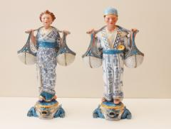 A Fine Pair of German KPM Chinese Figures - 81677