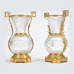 A Fine Pair of Large French Ormolu Mounted Cut Crystal Vases - 2034340