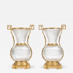 A Fine Pair of Large French Ormolu Mounted Cut Crystal Vases - 2036214