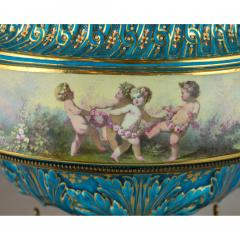 A Fine Quality Large S vres Style Porcelain and Gilt Bronze Centerpiece - 1435109